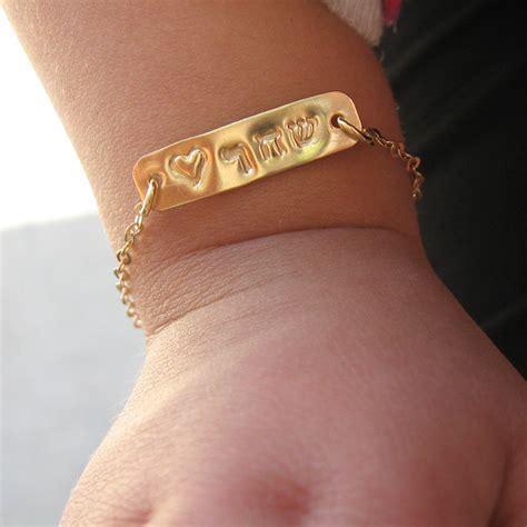 Baby Jewelry One Name Baby Jewelry Bracelet 14k By