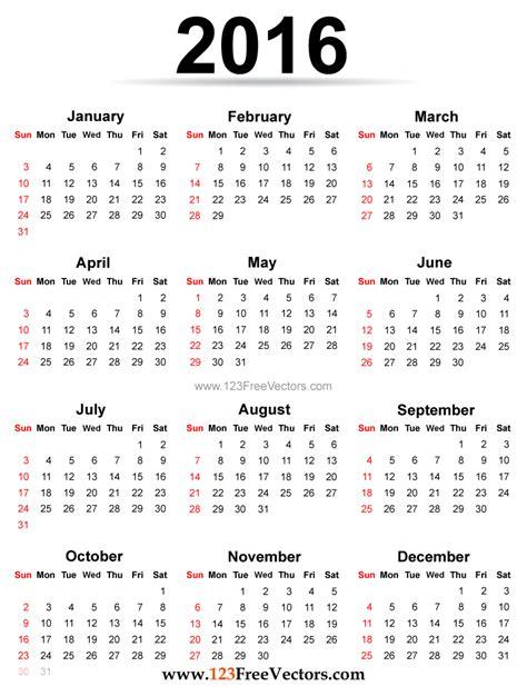 Yearly calendar 2016 to print HD   calendars 2017 kalendar
