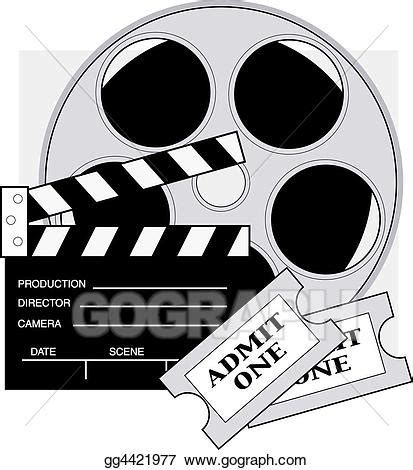 drawing movie tickets. clipart drawing gg4421977 gograph