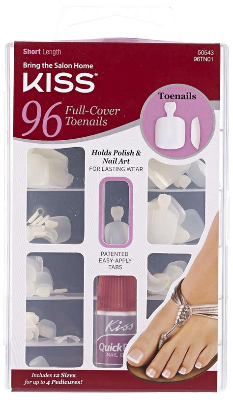 ncb cover design kiss amazon com glinla natural color false toenails full cover