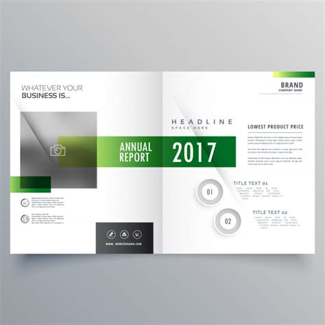 page design template free green bi fold brochure or magazine cover page