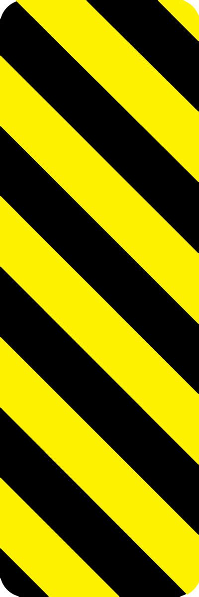 26853 Yellow On Stripe Size L parking and traffic sign object marker with