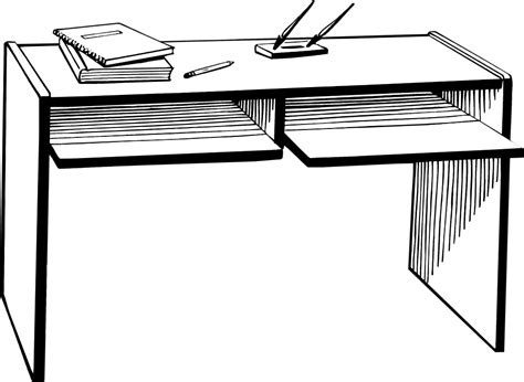 student working at desk student working at desk clipart black and white 80882
