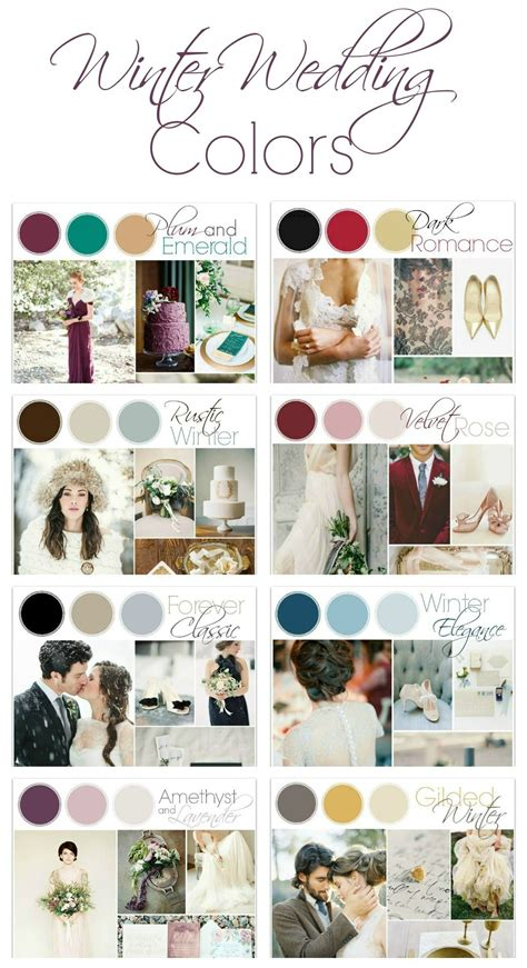 wedding colour themes autumn and winter weddings winter wedding color ideas winter weddings winter and