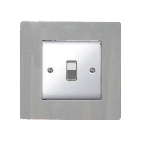 single light switch socket finger plate coloured acrylic