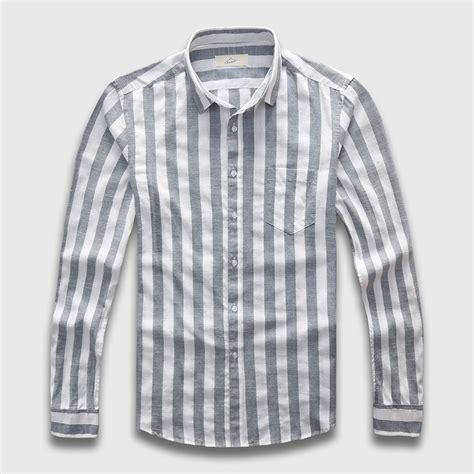 Sleeve Stripe Casual Shirt linen striped casual shirt maseel