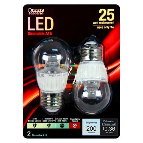 25 Watt Led Light Bulb Feit 25 Watt A15 Led Light Bulb 2 Pack Soft White