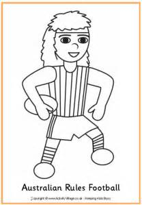 australian rules football colouring pages