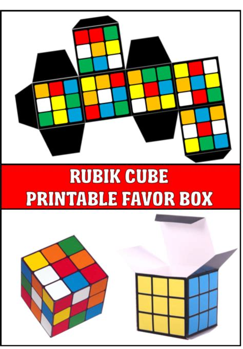 printable paper rubik s cube totally awesome 80 s theme party ideas and 80 s party