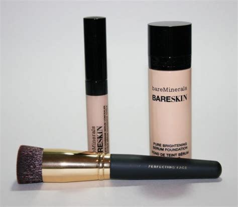 Bare Minerals Makeup Lift And Glow Set With Pouch Original qvc tsv bareminerals bareskin gorgeous glow set