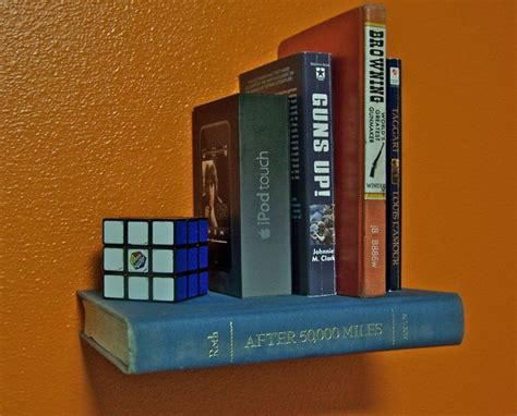 make your own floating book shelf cheap for the home