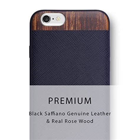 Premium Wooden For Iphone 6 iphone 6s iphone 6 iato genuine leather real wooden premium protective cover unique