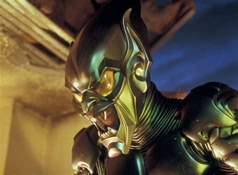 spiderman film green goblin watch early makeup test for green goblin in sam raimi s