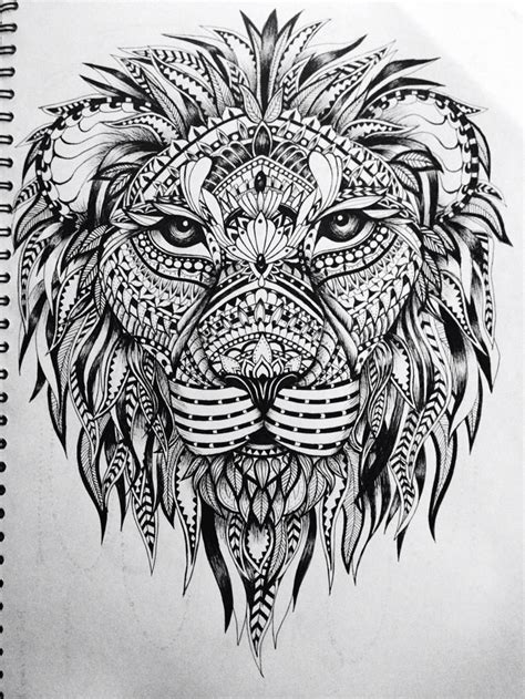 aztec lion tattoo printable mandala drawing with 17 best ideas about