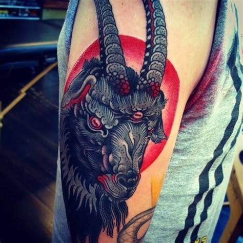 black goat tattoo tattoo tattooed tattoos animals