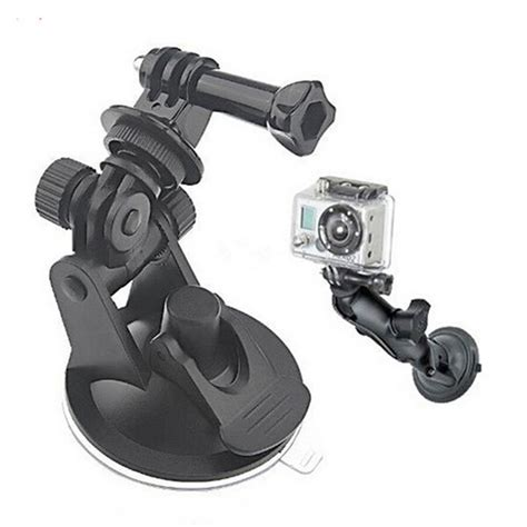 Glass Suction Cup Mount With Go Pro And 1 4 Ballhead Mount car sucker holder mount car suction cup for go pro 4