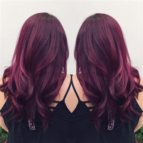 purple hair color thebestfashionblog com wonderful purple red hair color with natural waves love