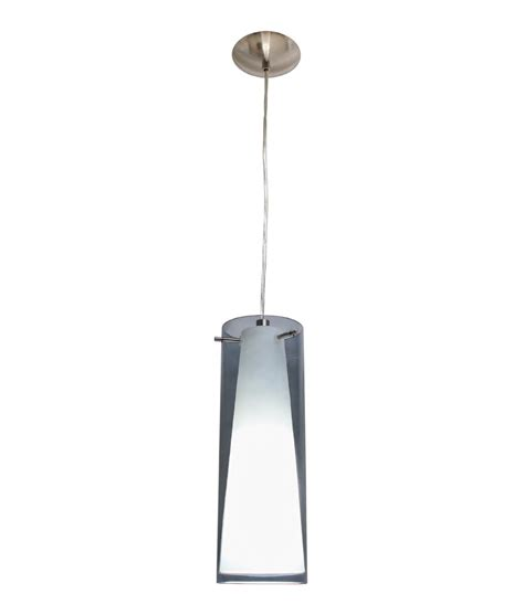 smokey glass pendant light single pendant with smoked white glass