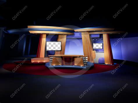camera  classic news studio set background