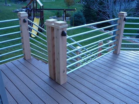 Pipe Railing Galvanized Tubing Deck Rail Patio Ideas