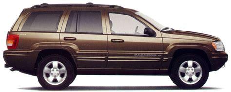 jeep grand wj exterior colors 2001 2004