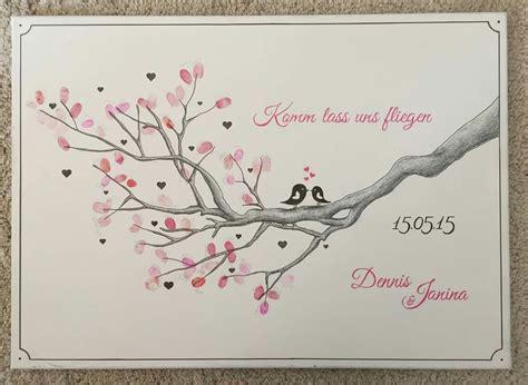 Hochzeit Fingerabdruck by Wedding Tree Fingerabdruck Baum Ast Hochzeit Taufe