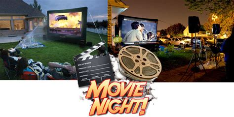 backyard movie night rental outdoor movie projector rental denver great outdoor movie