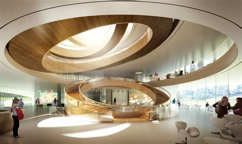 inside home design lausanne first images of 3xn s olympic committee headquarters in