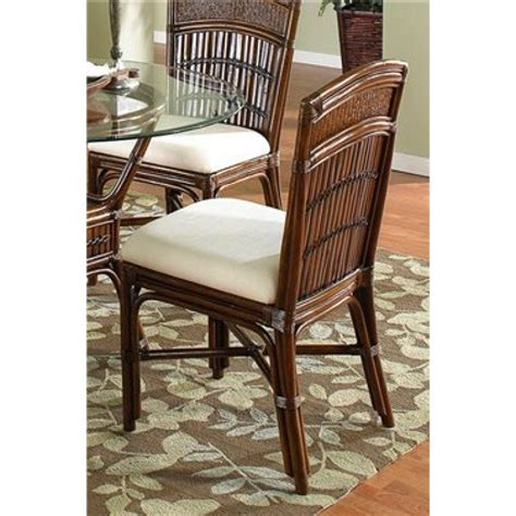 Hospitality Dining Chairs Hospitality Rattan 710 3160 Atq S Polynesian Indoor Rattan Bamboo Side Chair In Antique With