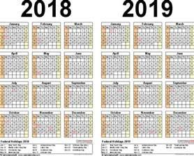 Calendario 2018 Xls 2019 Calendar Excel 2018 Calendar Printable