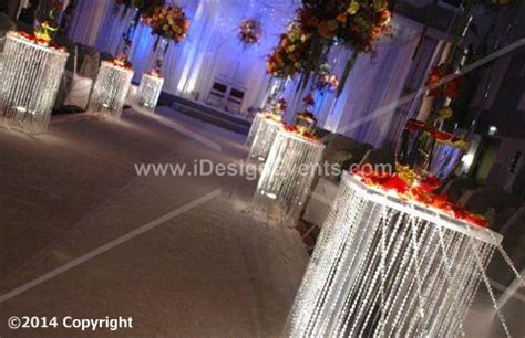 3 FEET IRIDESCENT SQ Plexi WEDDING AISLE DECORATION