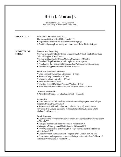 pastor resume template minister recommendation letter sle for cover