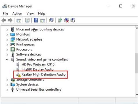 realtek high definition audio driver for windows