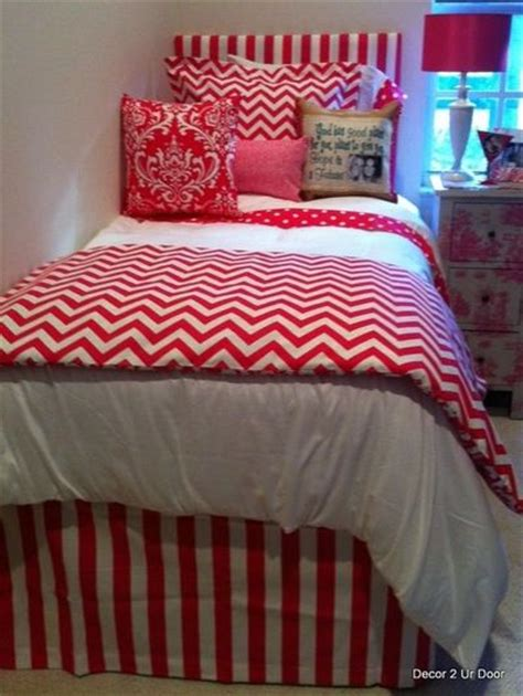 dorm bed sets hot pink chevron dorm bedding set for college juxtapost