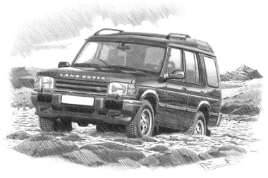 land rover discovery drawing land rover discovery personalised car prints