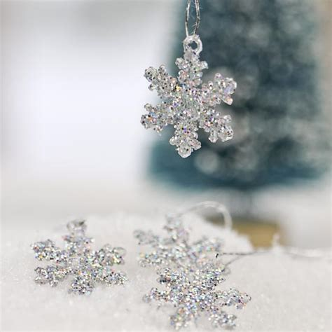 mini silver glitter snowflake ornaments what s new