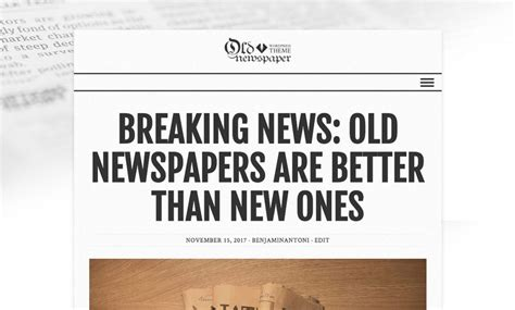 newspaper theme header newspaper styles for every taste in old newspaper