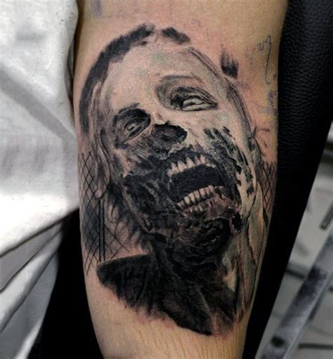 zombie tattoo ink 90 zombie tattoos for men masculine walking dead designs