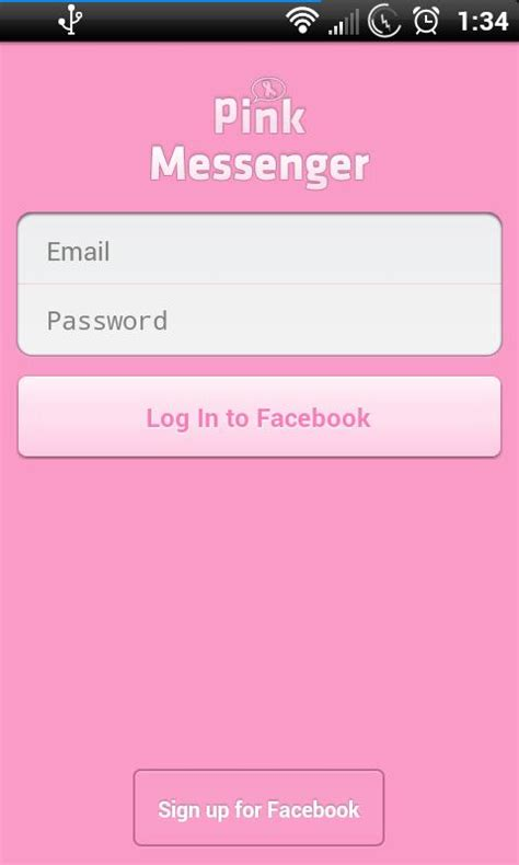 download facebook themes for android apk pink for facebook messenger 1 5 1 apk download android