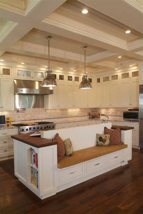 Kitchen Island Bench Ideas 19 Must See Practical Kitchen Island Designs With Seating Amazing Diy Interior Home Design