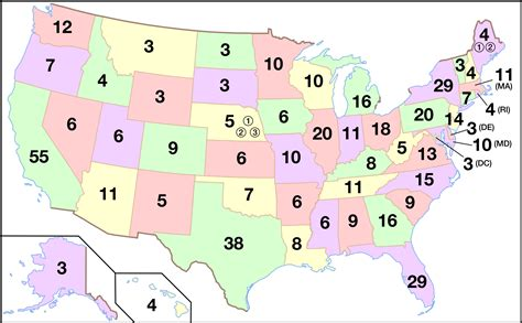 united states map with numbers the evolution of the electoral college the