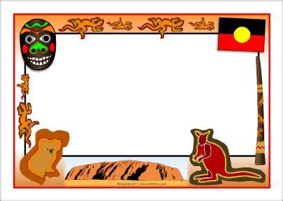 aborigines clipart border