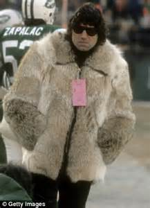 Careys Fur Coat Is Lost In The Mail by Joe Namath 70 Wears Fur Coat With His Chionship Ring