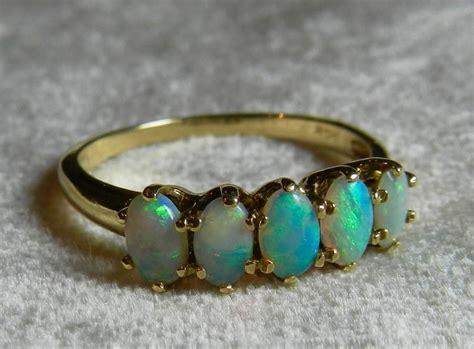 opal ring gold 14k opal stacking ring antique semi black