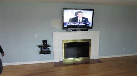 Ideas For Mounting Tv Fireplace by Wiring Tv Above Fireplace Wiring Get Free Image About