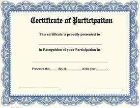 appreciation award templates certificate of participation certificate templates