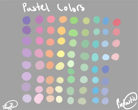 pastel color palette pastel color palette by atisutomaria on deviantart