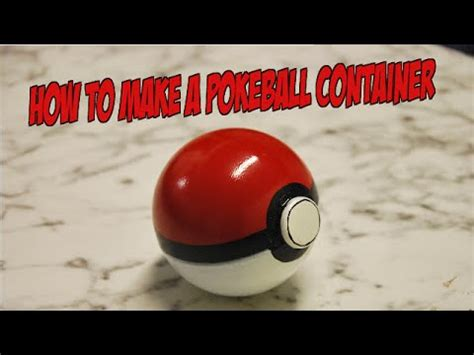How To Make A Paper Pokeball That Opens - how to make a pokeball container