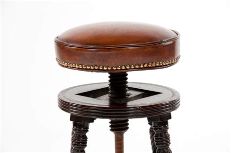 regency mahogany adjustable piano stool at 1stdibs