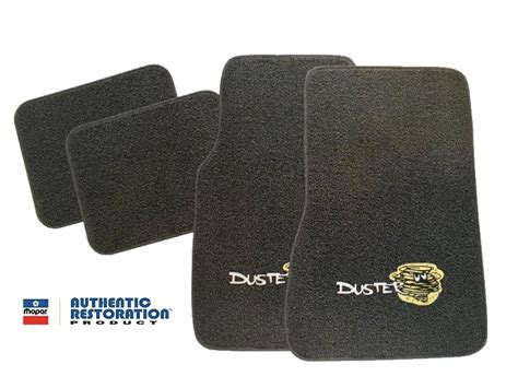 plymouth duster  piece floor mats  logos